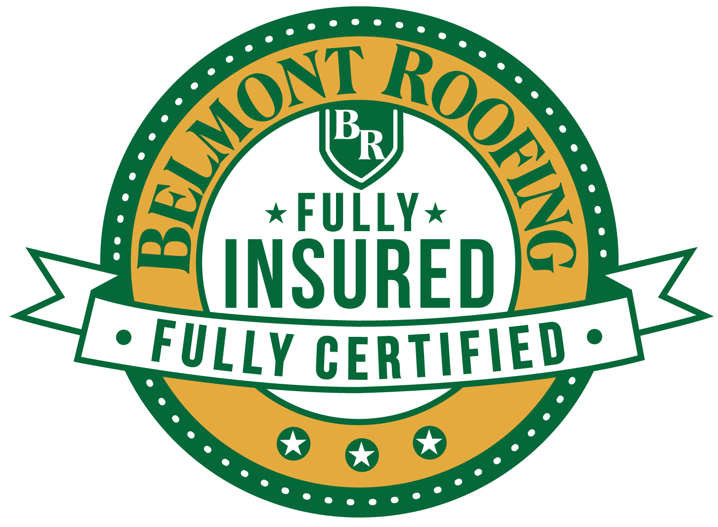 Belmont Roofing Fully Insured and Certified logo